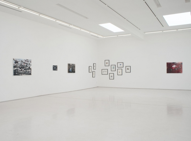 Ellen De Meutter Writings on the Wall Installation View