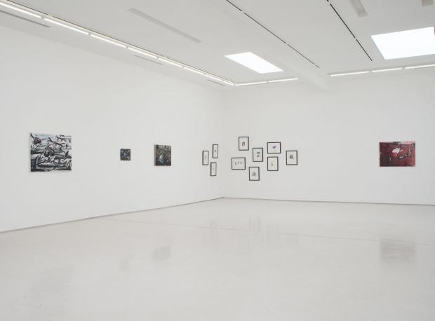 Ellen De Meutter Writings on the Wall Installation View