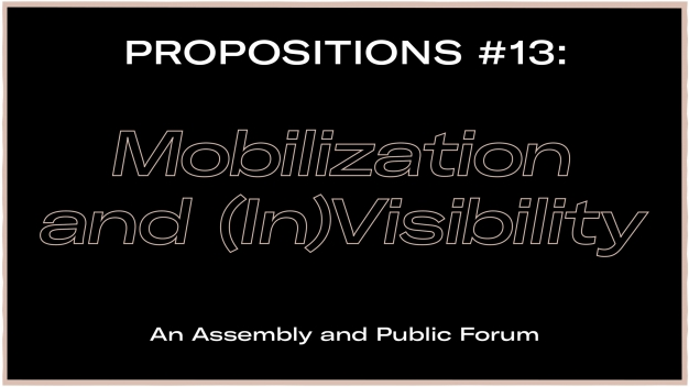 Tony Cokes in Propositions #13: Mobilization and (In)Visibility