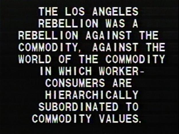 Tony Cokes, Black Celebration (1988)