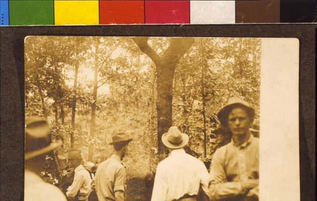 "Ken Gonzales-Day, ""Marietta, GA (Leo Frank), 1915,"" 2013, Chromogenic print from the Erased Lynchings series"
