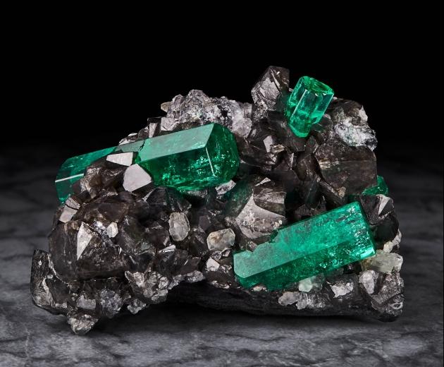 Magnificent Emeralds: Fura's Tears Emerald on Calcite