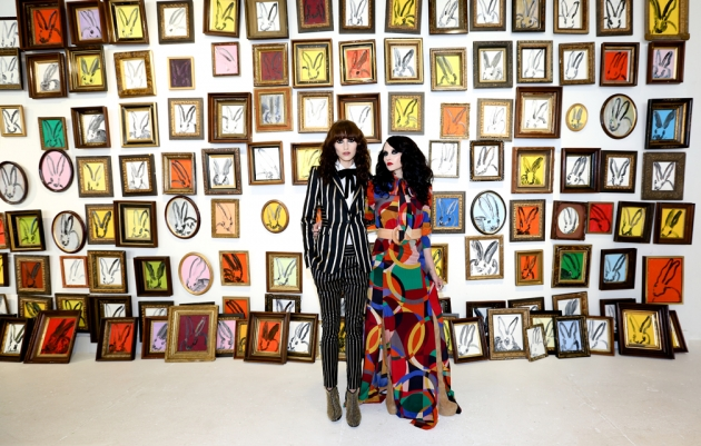 The Alice & Olivia Fall Campaign shoot Hunt's studio
