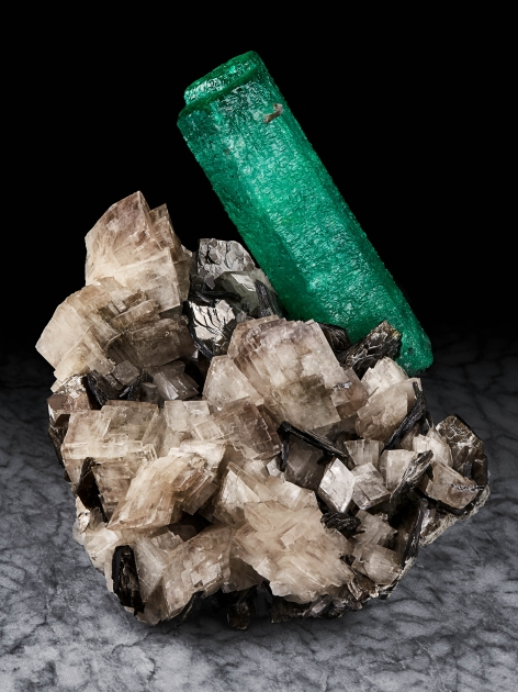 Emerald on Dolomite with Muscovite