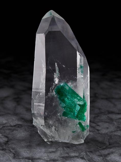 Quartz with Emerald Inclusion