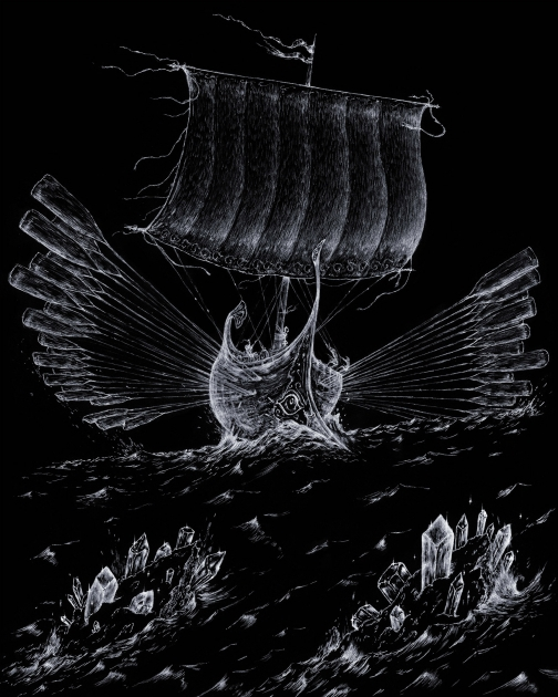 odysseus ship at sea
