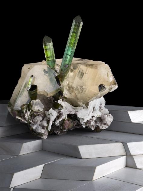 Contrast Exhibition Tourmaline on Quartz