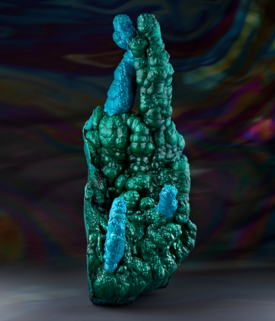 Chrysocolla and Malachite Stalactite