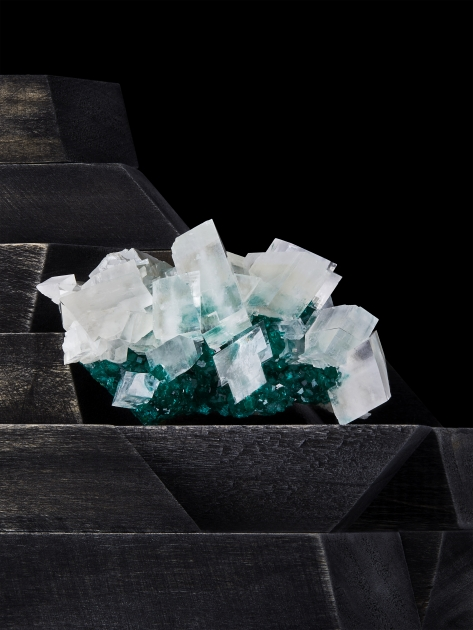 Contrast Exhibition -  Calcite on Dioptase