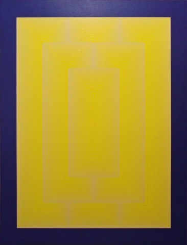 RICHARD ANUSZKIEWICZ Reflections III - White Line 1979