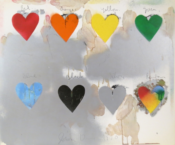 Jim Dine, Eight Hearts, 1970