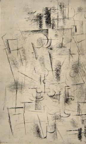 GEORGES BRAQUE Composition (Nature morte aux verres) 1912