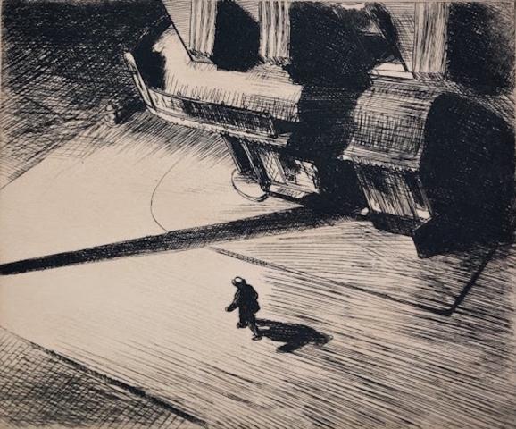 Edward Hopper, Night Shadows, 1921