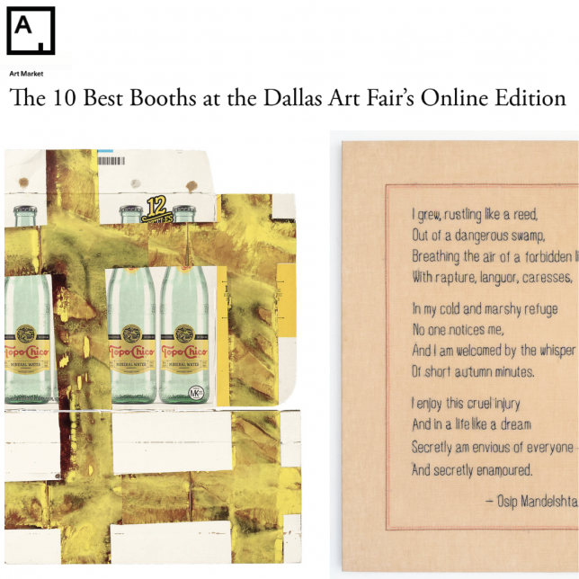 The 10 Best Booths at the Dallas Art Fair's Online Edition