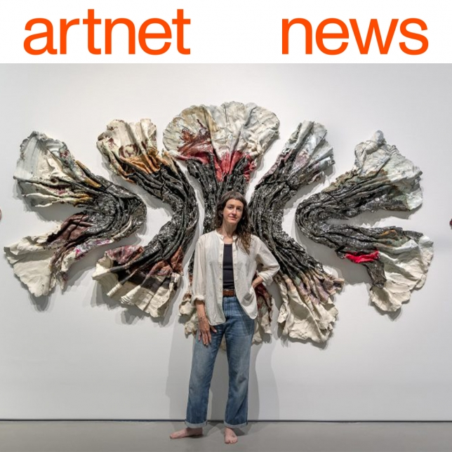"""""""How Brie Ruais Uses Her Own Body to Shape Her Clay Sculptures, and the Desert Sounds That Keep Her Motivated"""" Brie Ruais in Artnet News"""