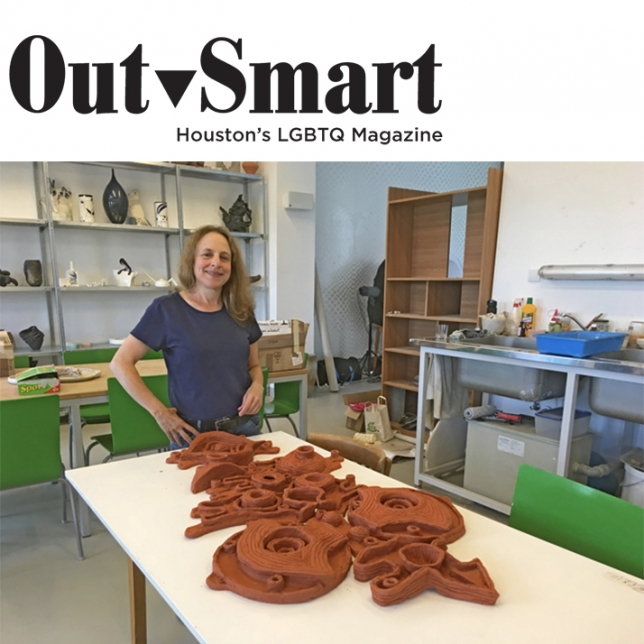 """Brooklyn-Based Lesbian Artist Debuts Her Sculptures at Houston's McClain Gallery"" in Outsmart Magazine"