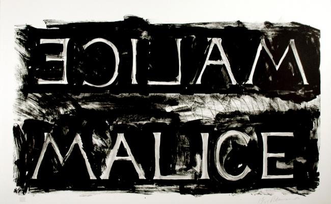 Bruce Nauman Malice Lithograph