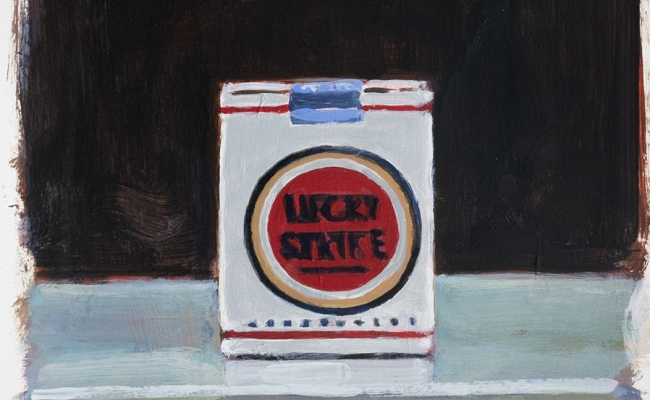 walter robinson lucky strike cigarettes painting