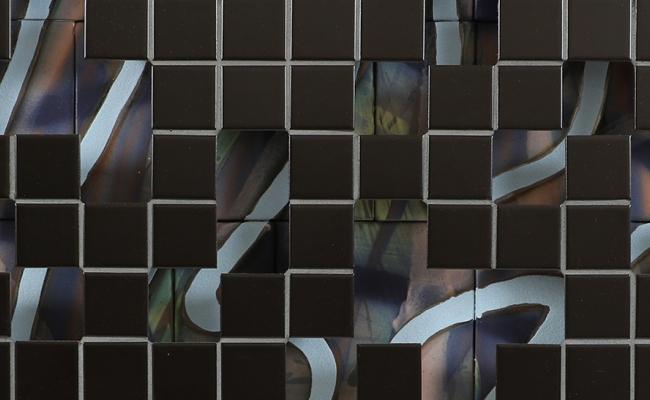 jeff schwarz detail of tile and ceramic sculpture