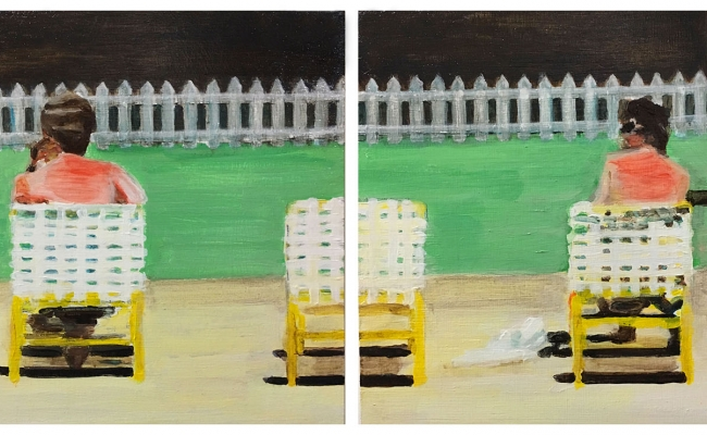 mark mann painting diptych
