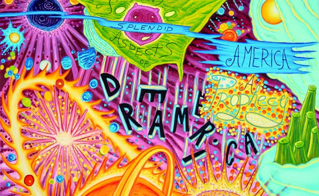 detail of David Sandlin painting Dreamerica