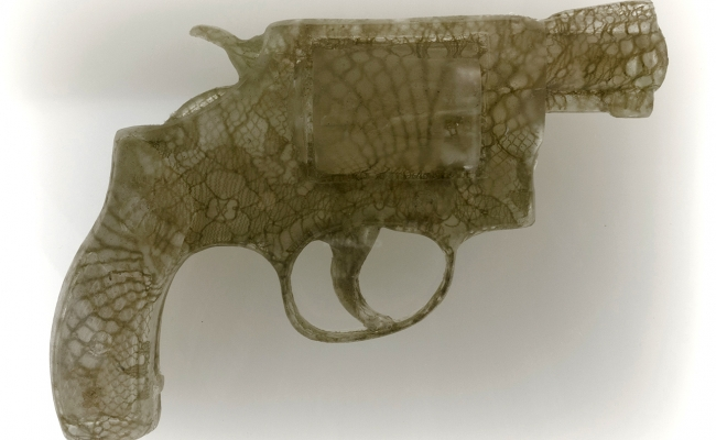 nikki luna lace and cast resin handgun