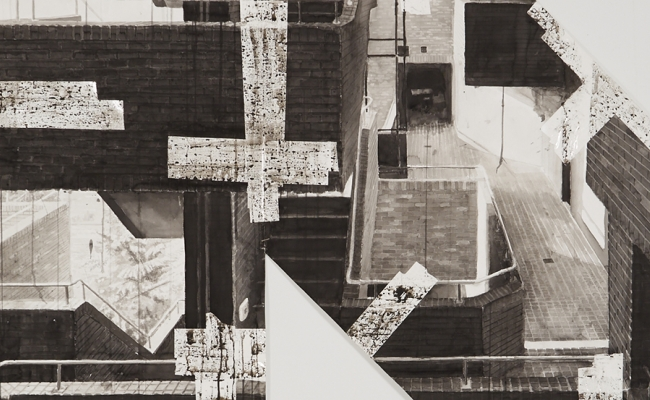 bjorn meyer-ebrecht ink drawing detail of stairs