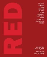 RED: Andy Warhol, Franz Kline, Jules Olitsky, Theodoros Stamos, Jean Michel Basquiat