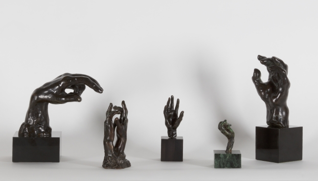 Auguste Rodin: 5 Hands in Bronze