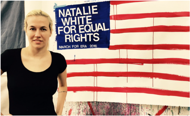 Artist Natalie White Has Used Art to Advocate for the Equal Rights Amendment for Years. Now, She's Using the Law