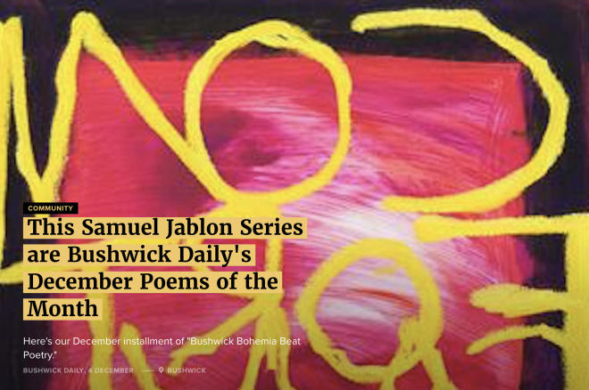 Samuel Jablon featured in Bushwick Daily