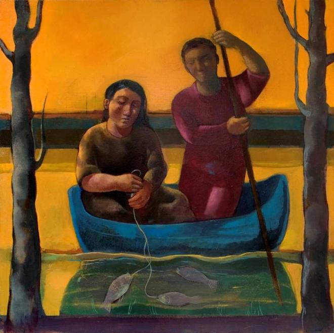 Monique de Roux La Pesca painting peinture