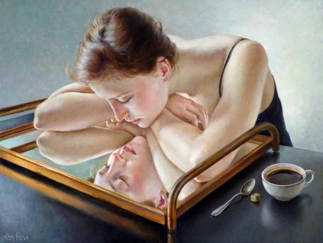 Francine Van Hove Eau miroir painting peinture