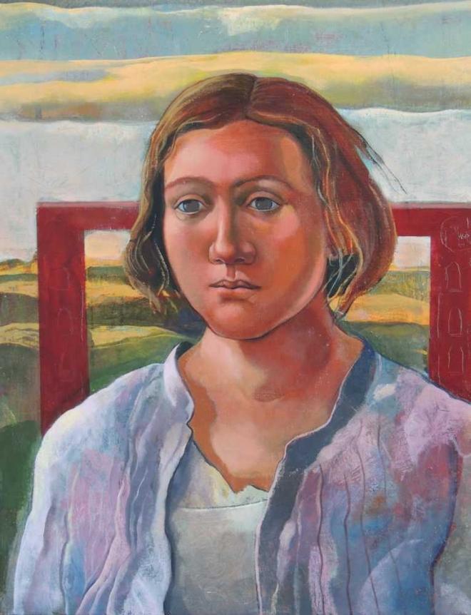 Monique de Roux Femme et nuage painting peinture