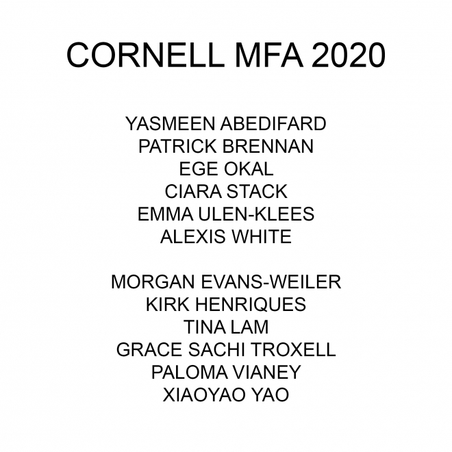 Cornell MFA Thesis Show 2020