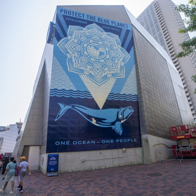 WBUR News | From Obey Giant To Oceans, Shepard Fairey On His First Permanent Mural In Boston