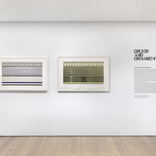 "Whitney Museum opens new exhibition ""Order and Ornament: Roy Lichtenstein's Entablatures"""