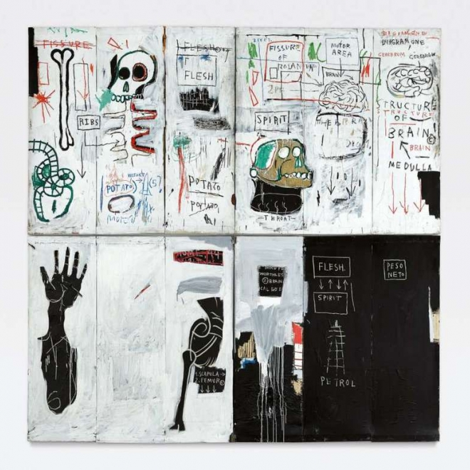 """Basquiat's """"Flesh and Spirit"""" earns more than $30 million at Sotheby's"""