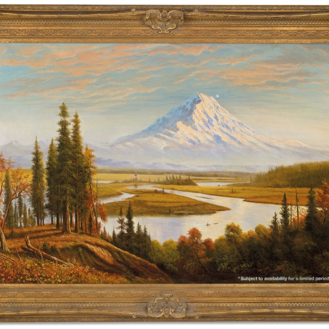 THE SEATTLE TIMES | Artist Banksy 'hijacked' a painting of Mount Rainier to make a point, and now it's worth millions