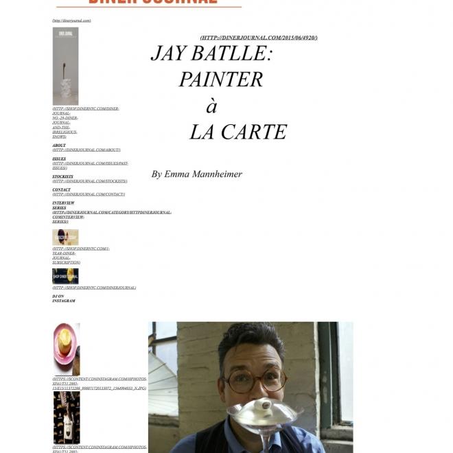 Jay Batlle: Painter a la carte