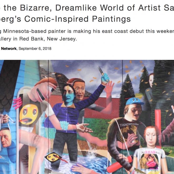 Inside the Bizarre, Dreamlike World of Artist Samual Weinberg's Comic-Inspired Paintings