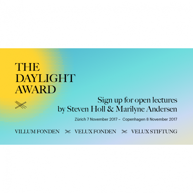 2016 DAYLIGHT AWARD LECTURES ANNOUNCED