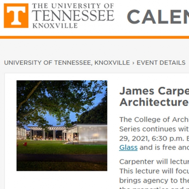 LECTURE AT THE UNIVERSITY OF TENNESSEE