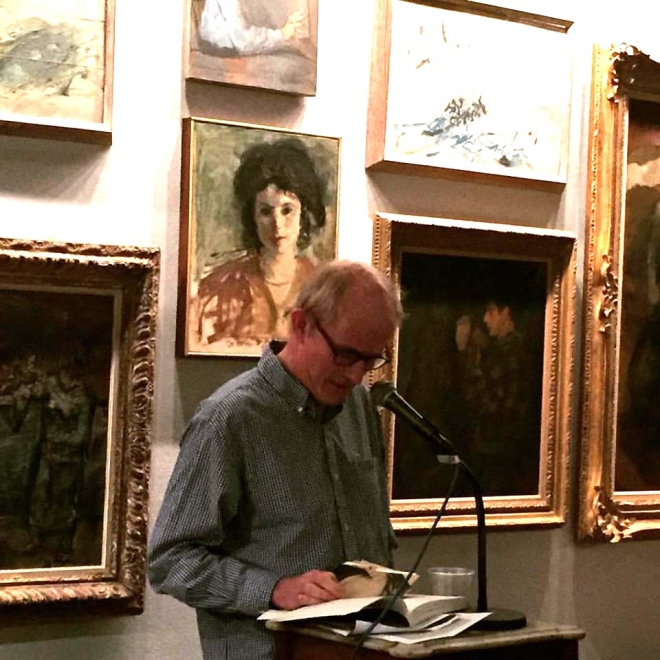 Poet Simon Pettet reads artists' poems and his own work