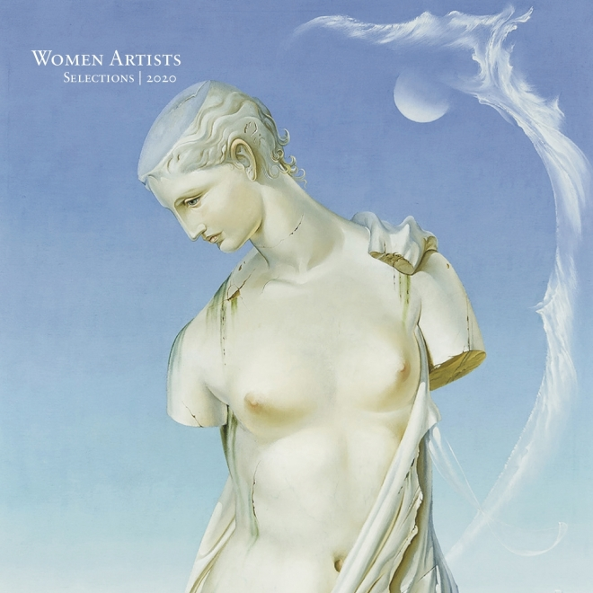"""Detail of cover to e-catalogue, """"Women Artists, Selections 2020"""" published by Hirschl & Adler on March 27, 2020. Featuring a detail of painting by Ruth Ray (1919–1977), """"Venus de Milo,"""" 1963. Oil on canvas, 40 x 30 in."""