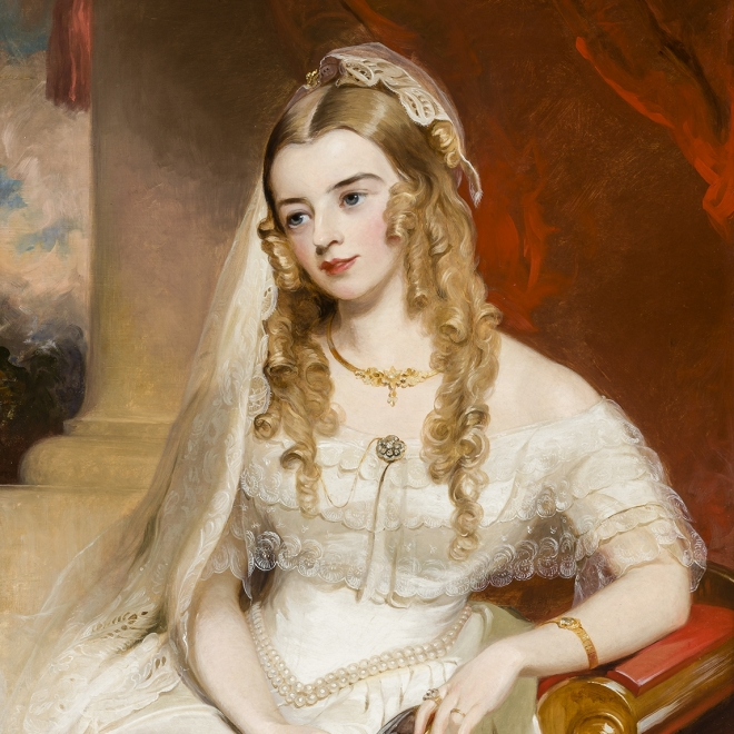 THOMAS SULLY (1783–1872), Portrait of Mrs. Joseph Merrefield (née Rebecca Janney of Baltimore), 1849. Oil on canvas, 36 x 28 in.