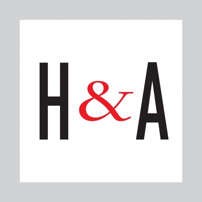 "Square ""H & A"" logo of Hirschl & Adler Galleries, New York"