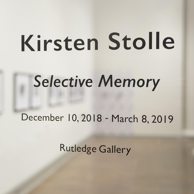 Kirsten Stolle: Selective Memory opens at Winthrop University Galleries