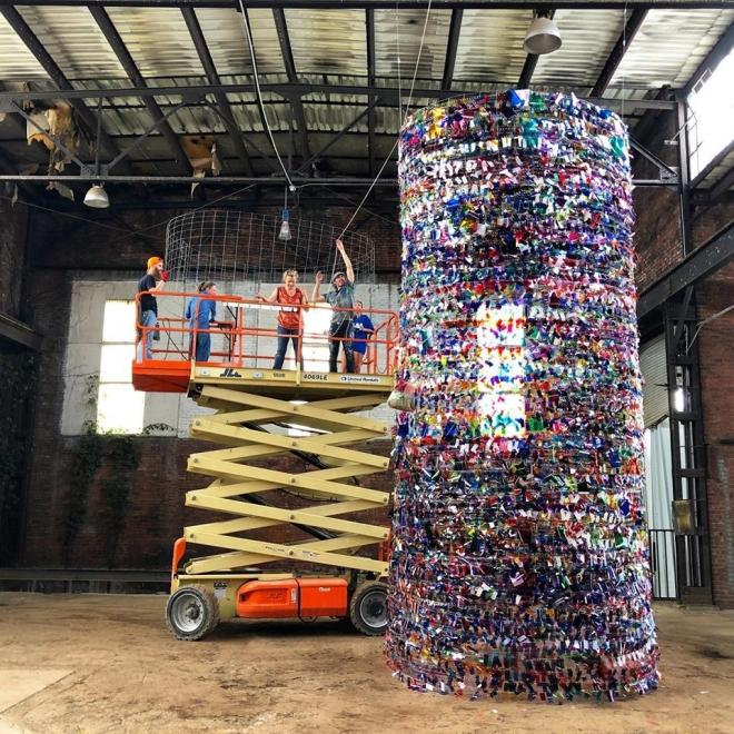 June 6, 2019: Rachel Hayes - new installation in Tulsa
