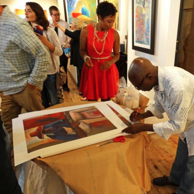 Art Village Gallery Supports Harding Academy's Art Program